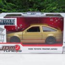 JADA 1/32 Diecast Car JDM Tuners 1986 TOYOTA TRUENO AE86 Corolla JAPAN Car