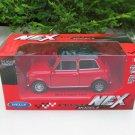 Welly NEX (11cm) Die cast Car 1974 Mini Cooper 1300 (Red with Black Top) Classics Car