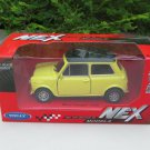 Welly NEX (11cm) Die cast Car 1974 Mini Cooper 1300 (Yellow with Black Top) Classics Car