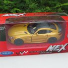 Welly NEX (11cm) Diecast Car Model 2018 Mercedes AMG GT R Yellow Sports Car