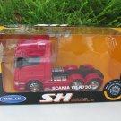 Welly 1-32 SCANIA V8 R730 (6x4) 6 WHEEL TRACTOR UNIT TRUCK Red Die Cast Car Model Lorry Model