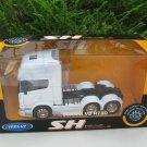 Welly 1-32 SCANIA V8 R730 (6x4) 6 WHEEL TRACTOR UNIT TRUCK White Die Cast Car Model Lorry Model