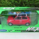 Welly 1-24 Diecast Car Model 1974 Mini Cooper 1300 With Surfboard Classics Car