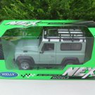 Welly 1-24 Diecast Car Model Land Rover Defender 90 (TD5) With Roof Rack and Snorkel Green