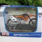 Maisto 1/18 Special Edition Diecast Motorcycle KTM 520 SX # 111 CROSS 2001 (Orange)