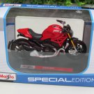 Maisto 1/18 Special Edition Diecast Motorcycle Ducati Monster 1200 S 2014 Red