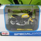 Maisto 1/18 Special Edition Diecast Motorcycle 2016 Ducati Scrambler Icon Yellow