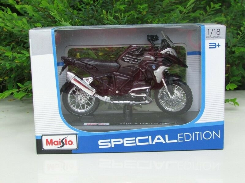 Maisto 1/18 Special Edition Diecast Motorcycle BMW R 1200 GS 2017 Rallye Brown