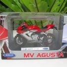 Welly 1/18 Diecast Motorcycle MV Agusta F3 800 Red 2013 Super Bike