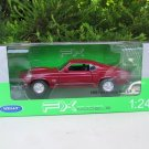 Welly 1/24 Diecast Car 1969 FORD Mustang Boss 429 Red Classics Sports Car