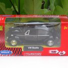 Welly NEX (11cm)Diecast Car VW Volkswagen Beetle (Hard top)1967 Classics Car Black