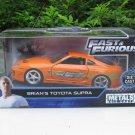 Jada 1-32 Fast & Furious Series -  Brian's 1995 Toyota Supra  Orange (Fast 7) 2001