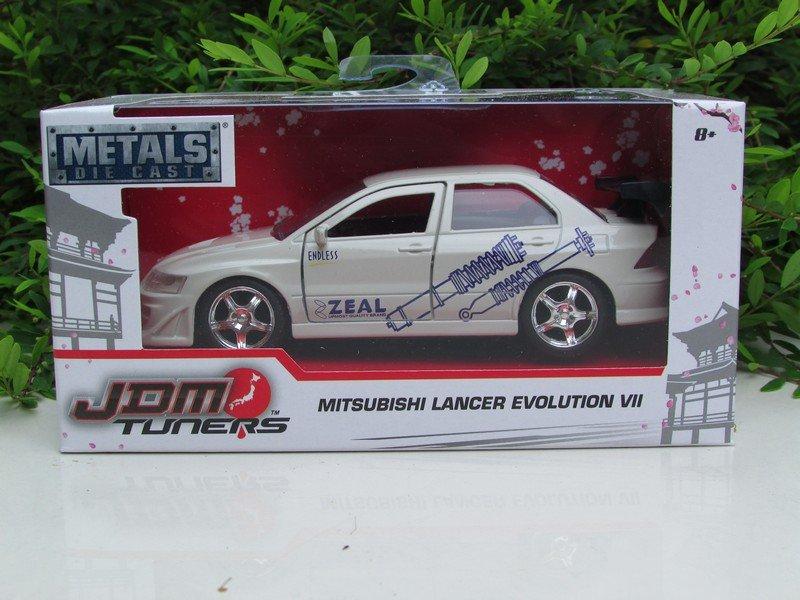 JADA 1/32 Diecast Car JDM Tuners 2002 Mitsubishi Lancer Evolution VII EVO VII White Car
