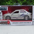 JADA 1/32 Diecast Car JDM Tuners 2002 Mitsubishi Lancer Evolution VII EVO VII White Car