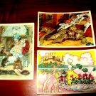 Old Soviet postcards set; Pawl, fairy tale.