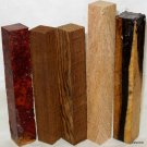 Pen Turning Combo Pack Amboyna B&W Ebony Mango Bocote~Woodturning  Razor Sticks