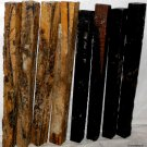 8 GABON EBONY & BLACK & WHITE EBONY Wood 1x1x12 Turning Stock For Magic Wands