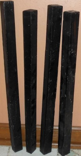 4 GABON EBONY Wood 1x1x19 Turning Stock For Magic Wands Photo Frame SHIPPED FREE