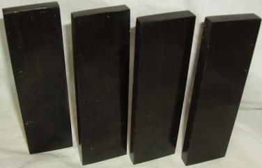 4 Buffalo Horn Knife Scales 5x1.5x3/8 Straight Razor Blanks Knifesmith Supplies