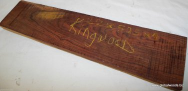 Brazilian Kingwood Timber 22x4.75x1 Guitar Necks Pool Cues Table Legs Bow Making
