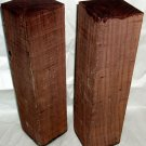 2 Pc East Indian Rosewood 3x3x12 Turning Peppermills Gunsmithing Stock Pool Cues