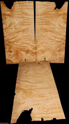 White Oak Burl Veneer 3 Sheet Guitar Tops Jewelery Boxes Inlays Fine Furnitures