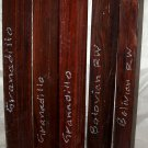 5 Granadillo & Bolivian Rosewood 2x24 Turning Stock Pool Cues Banjo Fingerboards