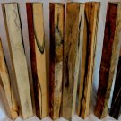 8 Black & White Ebony Hardwood Turning Blanks 1x1x12 For Drum Sticks Magic Wands