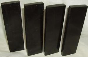 4 Buffalo Horn Knife Scales 6x1.75x.35 Straight Razor Blanks Knifesmith Supplies