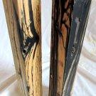 2 Black & White Ebony Wood Lumber 2x2x12  Guitars Handles Pool Cues Turkey Calls