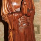 Hand Carved Wood Sculpture of Lord Buddha Greeting Zen Meditation Buddhism