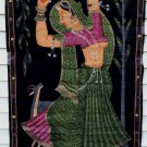 Female Classical Dancer Painting India Art Lifesize Antique Painting On Cloth