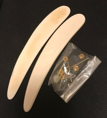 Pre-Shaped Camel Bone Straight Razor Scales & Hardware Razor Making Supply