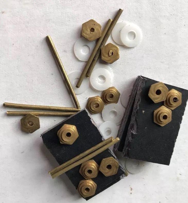 Hexagon Collars Washers Pins  Wedges Razor Scales Hardware Straight Razor Parts