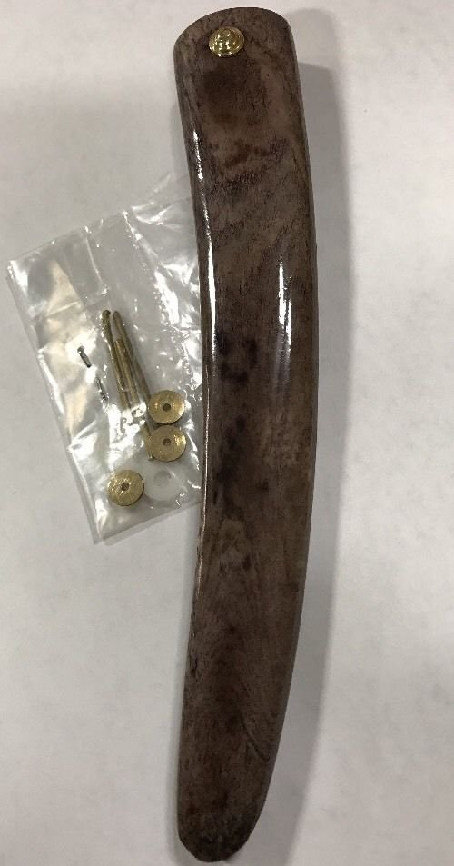 Dyed Camel Bone Straight Razor Scales W/ Hardware Razor Handle Restoration Parts