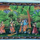 Antique Hindu God Radha Krishna Painting Miniature Painting Krishna Ras Leela