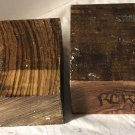 Two Exotic Woods 6x6x3 Bowl Blanks Zebrawood & Olivewood For Woodworking Project