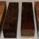 Six Exotic Woods Turning Blanks 1.5x1.5x6  Knife Handles Reel Seats Pen Making