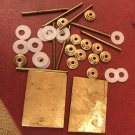 2 Solid Brass Wedges 12 Brass Collars 8 Pins 12 Washers Razor Making Hardware