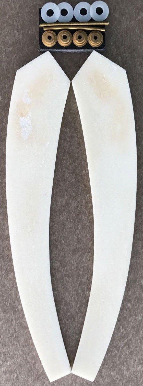 Camel Bone Straight Razor Scales & Hardware Straight Razor Making Handles Supply