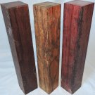 Exotic Woods Combo Granadillo Marblewood Purpleheart 2x12 Woodworking Game Calls