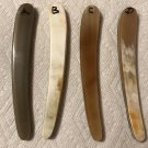 4 Real Ox Horn Straight Razor Scales Hardware Incl. Handles For Dovo Puma Boker