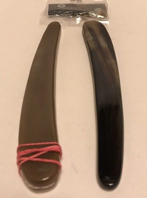 2 Ox Horn Straight Razor Scales & Hardware Handles For Wade Butcher Dovo Puma