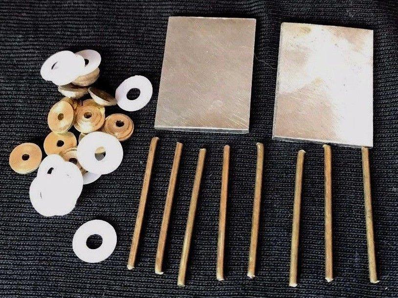 Razor Handle Making Hardware 2 Steel Wedges 12 Ea Brass Collars & washers 8 Pins