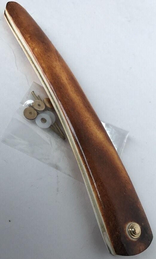 Camel Bone Straight Razor Scale Brass Hardware Razor Handles Making Supply GLD
