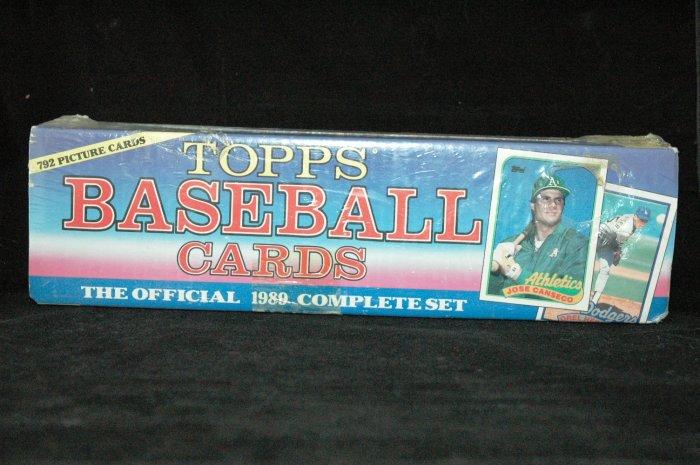 1989 TOPPS BASEBALL CARD COMPLETE OFFICAL