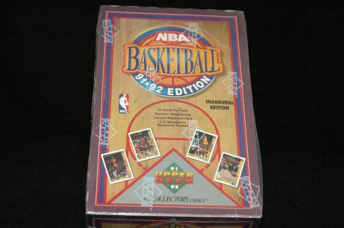 Sealed Upper Deck NBA Basketball 91-92 Inagural Edition