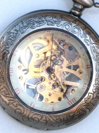 Steampunk - SHERLOCK HOLMES - Pocket Watch - Mechanical - Large - Necklace By GlazedBlackCherry
