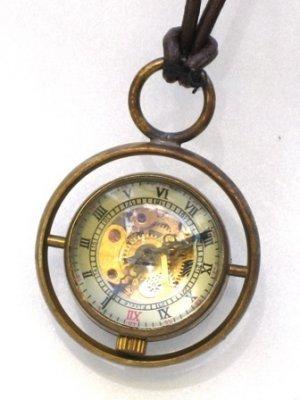 Steampunk Harry Potter TIME TURNER Necklace - Mechanical Pocket Watch