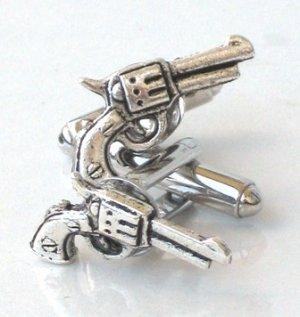 Steampunk JAMES BOND GUN Cufflinks AS